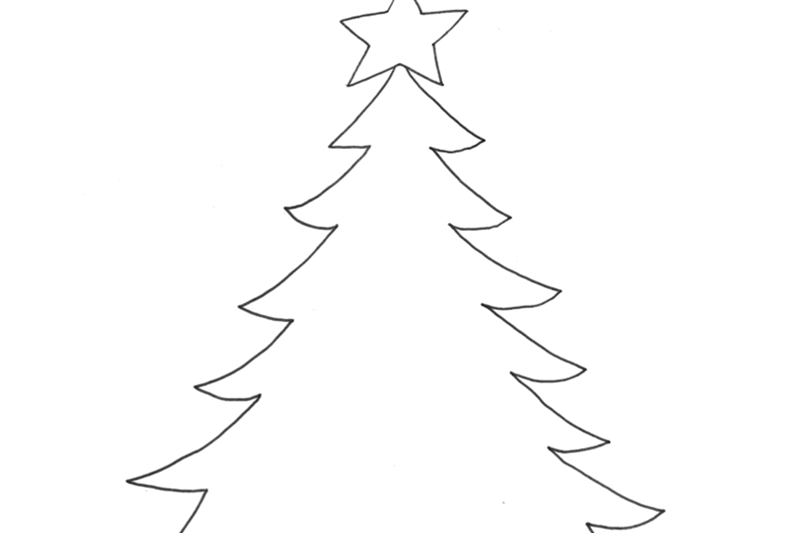 A simple Christmas card to colour in - Daily Sparkle